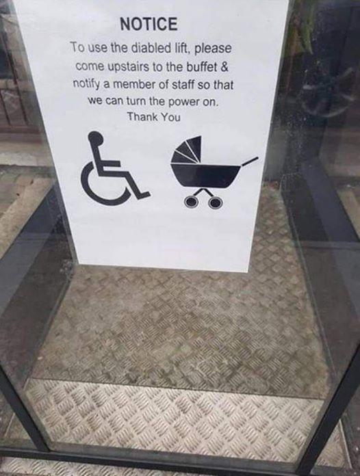 Lift notice